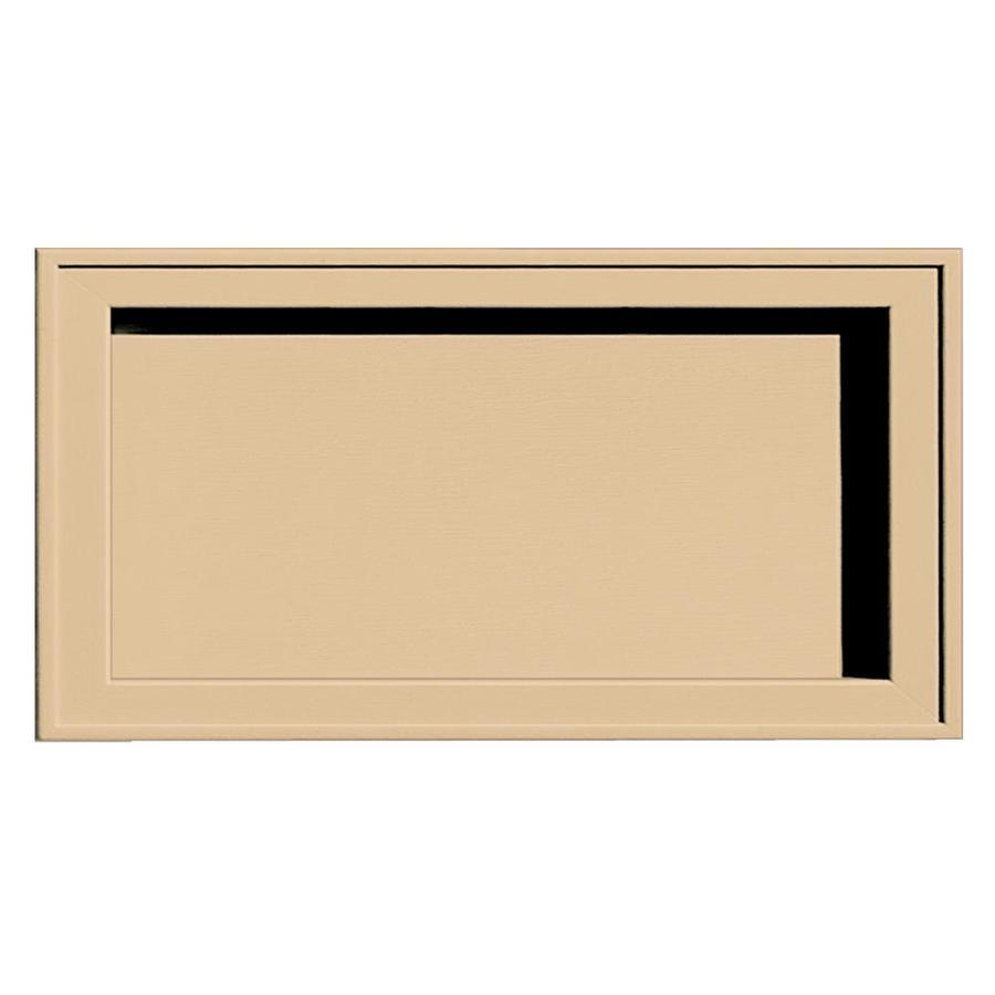 Builders Edge 7.5-in x 14.25-in Sandstone Maple Vinyl Universal Mounting Block