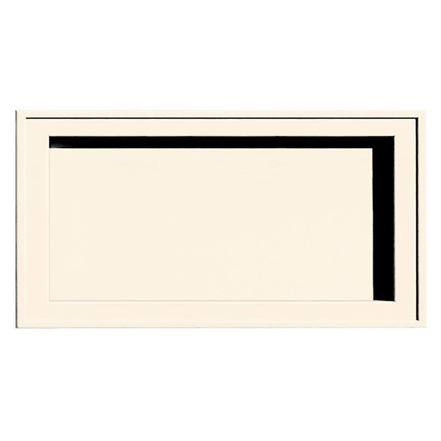 Builders Edge 7.5-in x 14.25-in Sandstone Beige Vinyl Universal Mounting Block