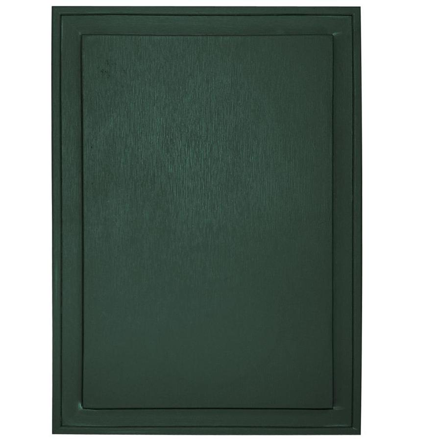 Builders Edge 10-in x 14-in Forest Green Vinyl Universal Mounting Block
