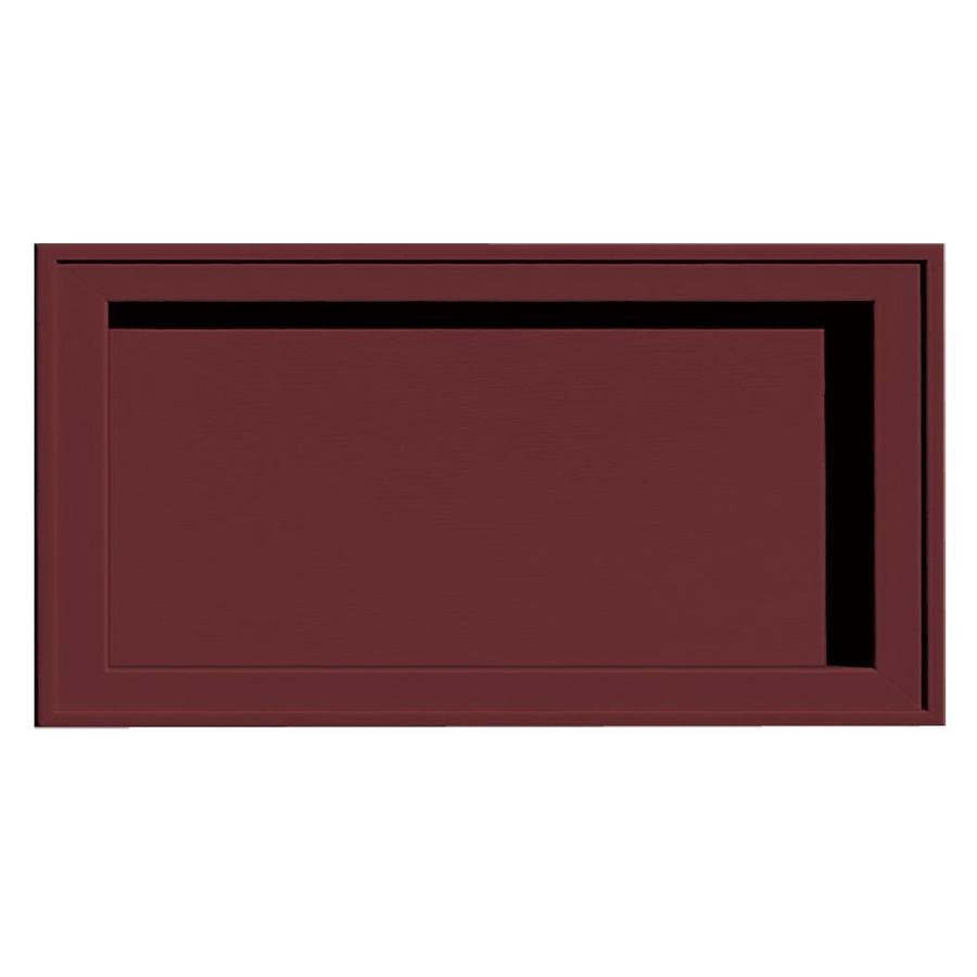 Builders Edge 7.5-in x 14.25-in Wineberry Vinyl Universal Mounting Block