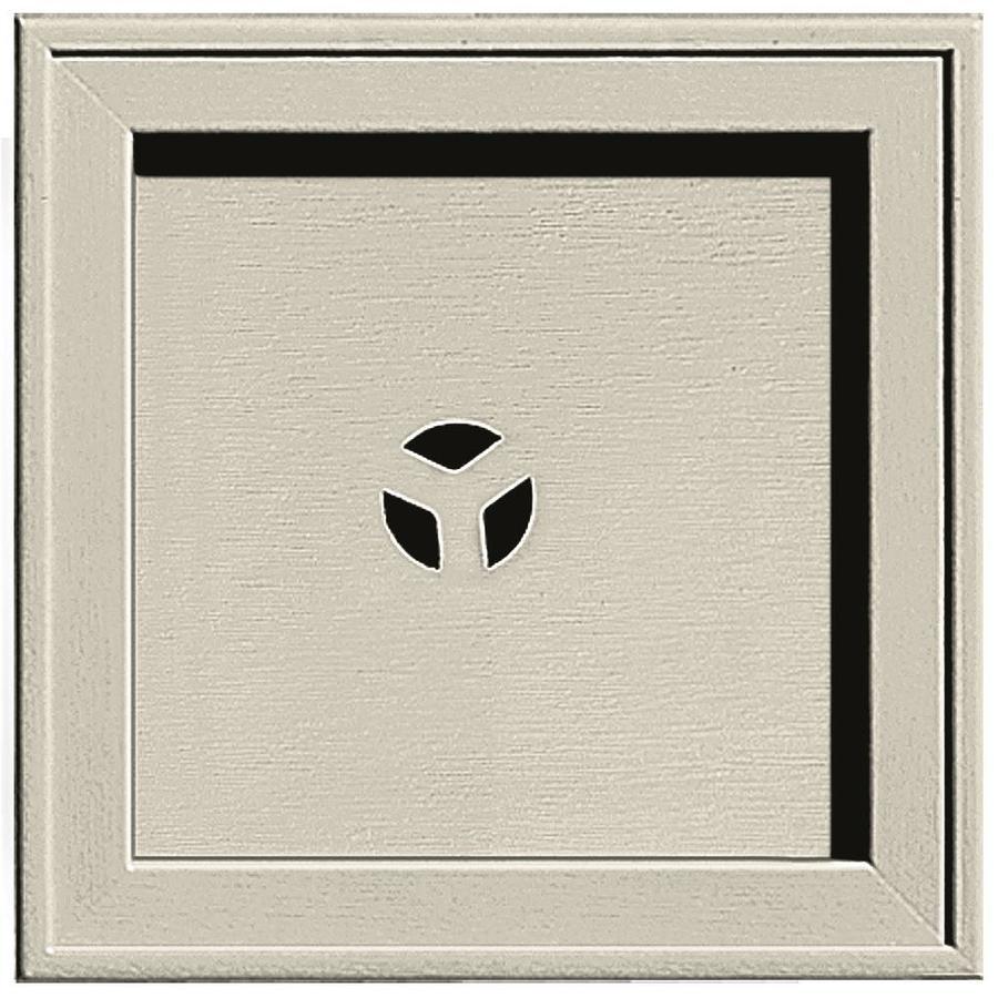 Builders Edge 7.75-in x 7.75-in Champagne Vinyl Universal Mounting Block