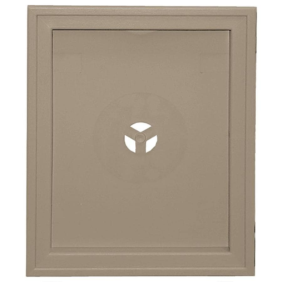 Builders Edge 6.75-in x 8.75-in Clay Vinyl Universal Mounting Block