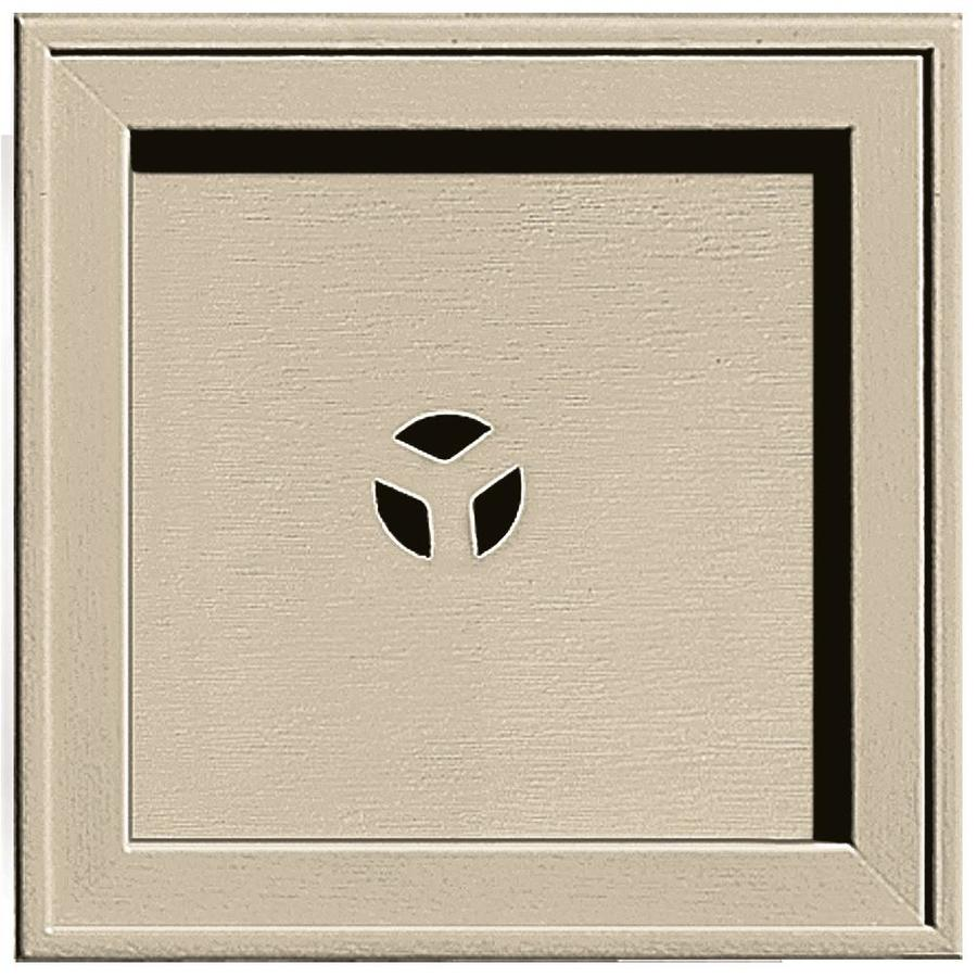 Builders Edge 7.75-in x 7.75-in Sandalwood Vinyl Universal Mounting Block