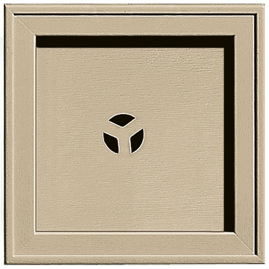 Builders Edge 7.75-in x 7.75-in Light Almond Vinyl Universal Mounting Block