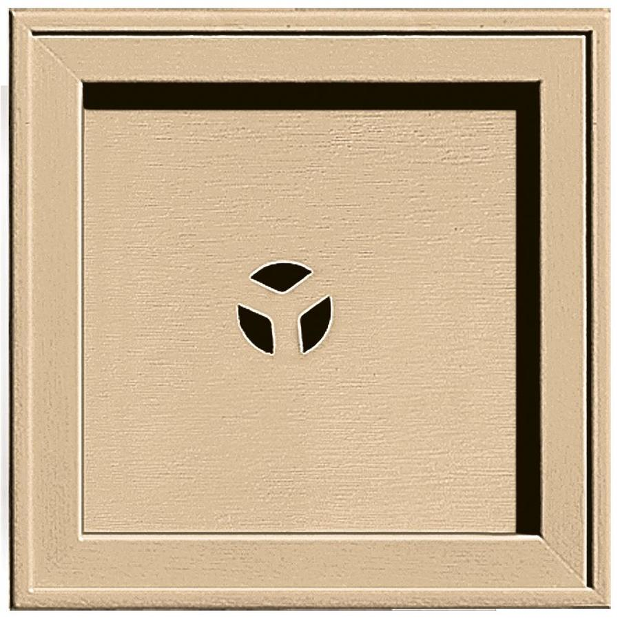Builders Edge 7.75-in x 7.75-in Sandstone Maple Vinyl Universal Mounting Block