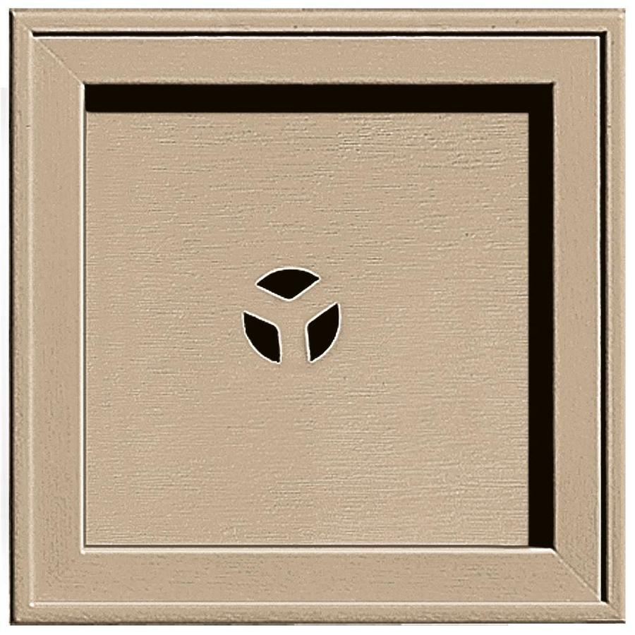 Builders Edge 7.75-in x 7.75-in Tan Vinyl Universal Mounting Block