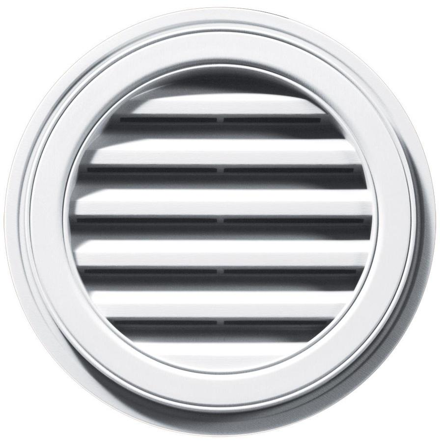 Builders Edge 18-in x 18-in White Round Vinyl Gable Vent