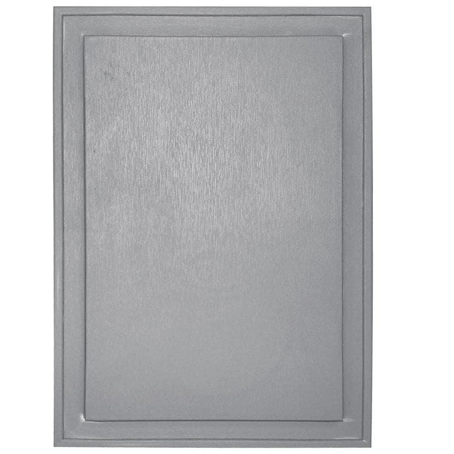 Builders Edge 10-in x 14-in Gray Vinyl Universal Mounting Block