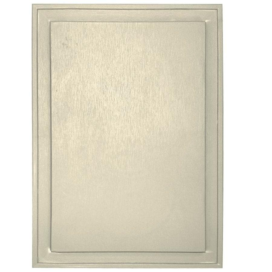 Builders Edge 10-in x 14-in Heritage Cream Vinyl Universal Mounting Block