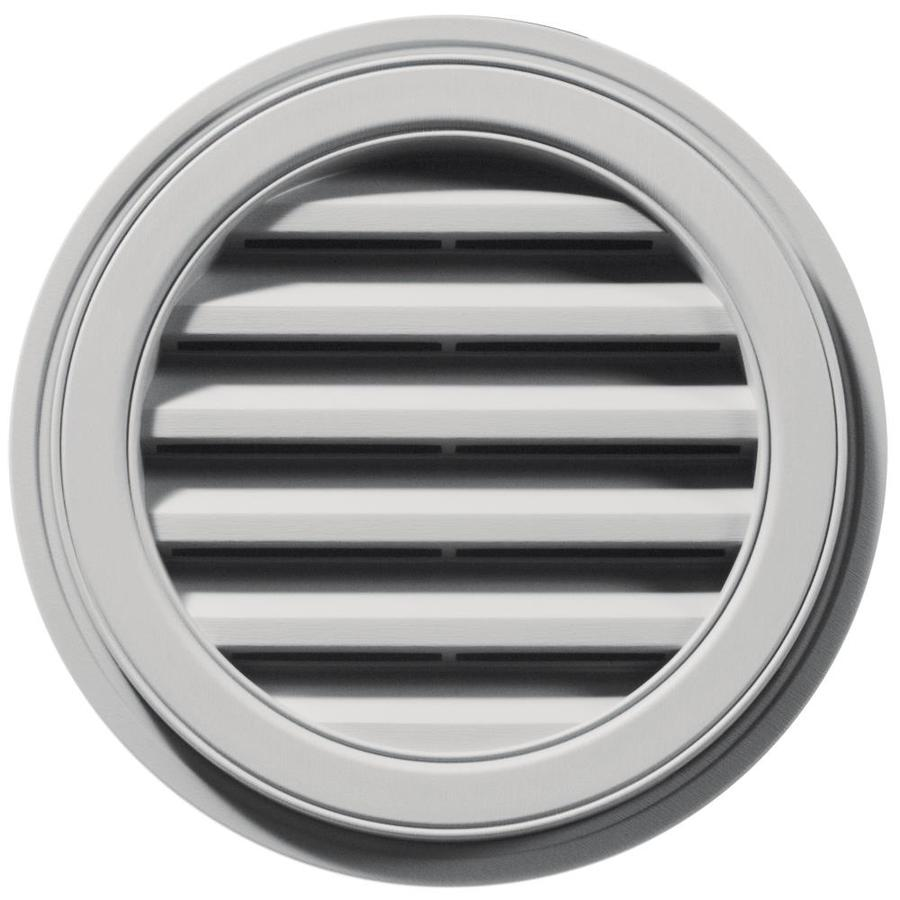 Builders Edge 18-in x 18-in Paintable Round Vinyl Gable Vent