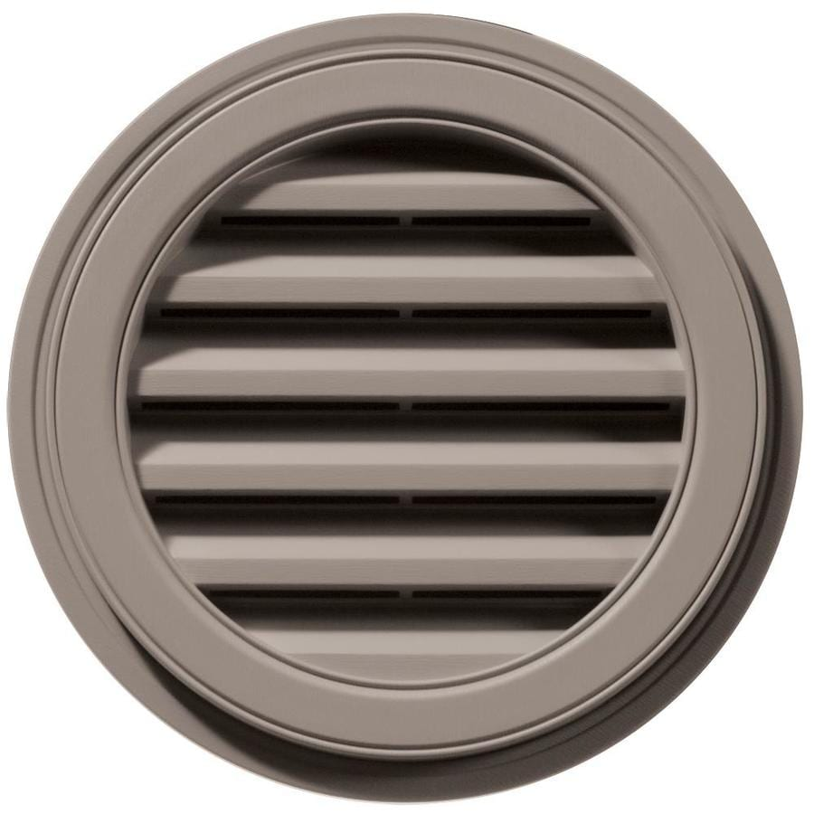 Builders Edge 6-in x 5-in Clay Round Vinyl Gable Vent