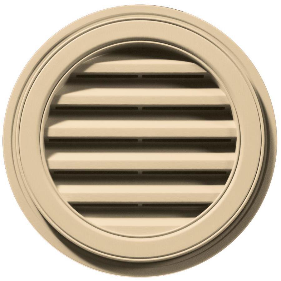Builders Edge 6-in x 5-in Dark Almond Round Vinyl Gable Vent