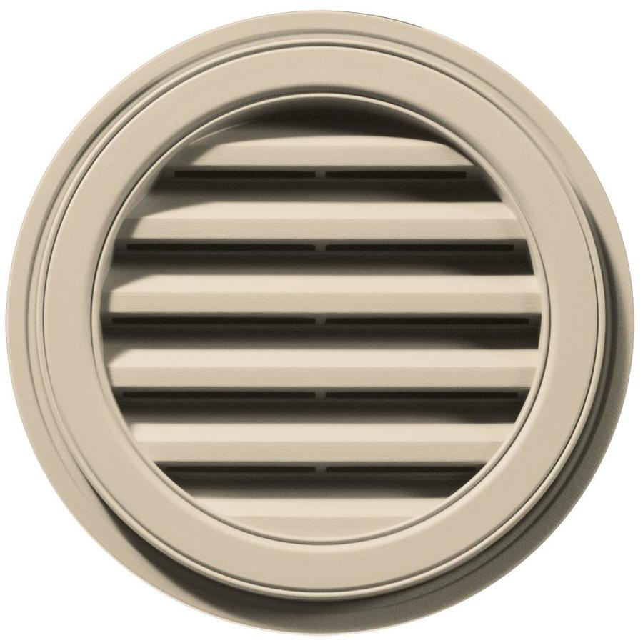 Builders Edge 6-in x 5-in Almond Round Vinyl Gable Vent
