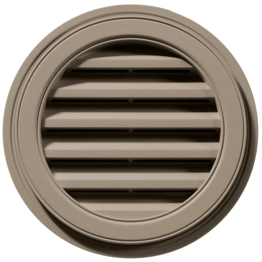 Builders Edge 18-in x 18-in Clay Round Vinyl Gable Vent