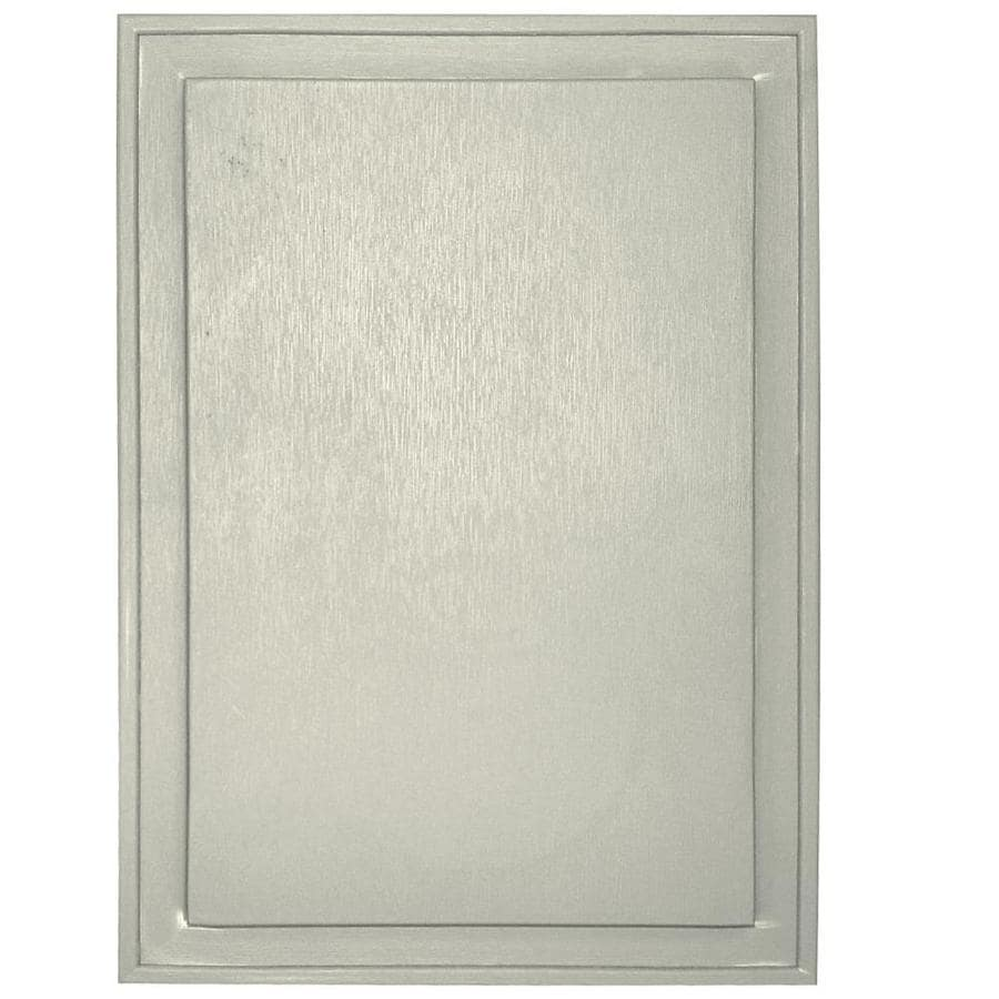 Builders Edge 10-in x 14-in Linen Vinyl Universal Mounting Block