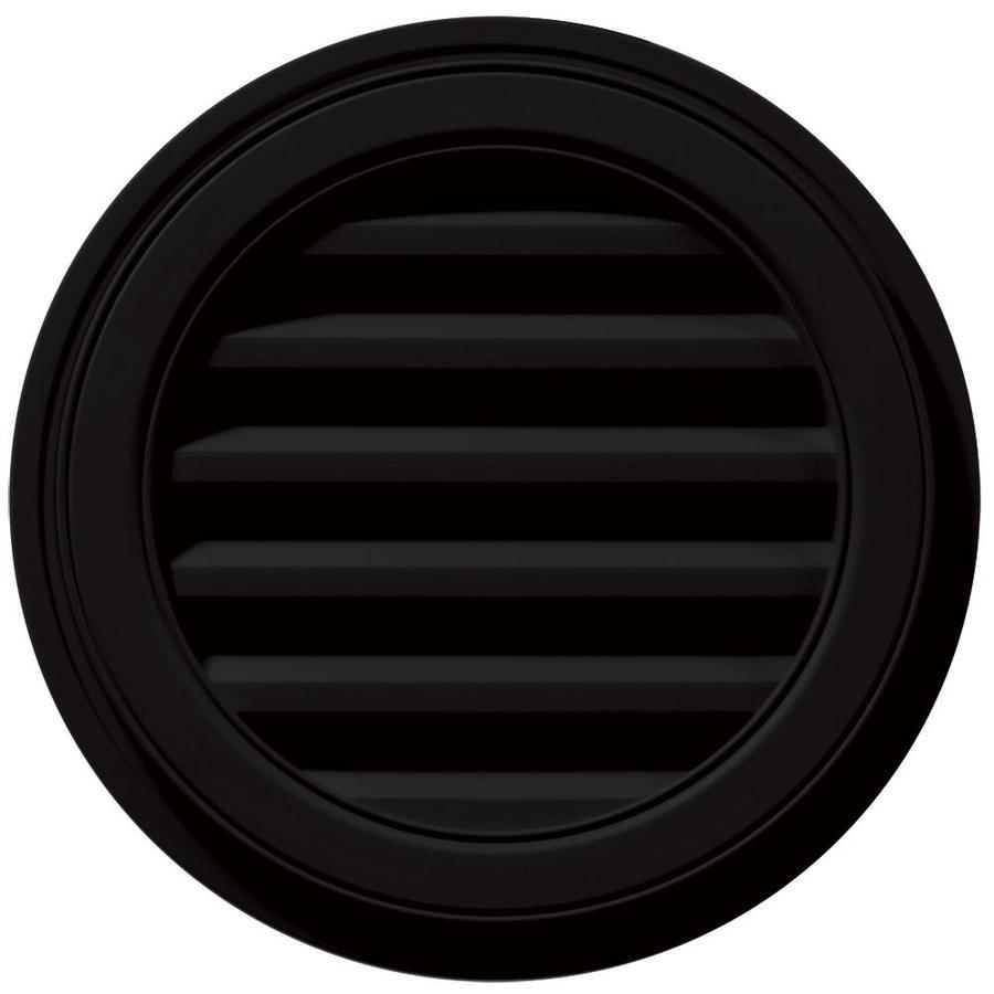 Builders Edge 18-in x 18-in Black Round Vinyl Gable Vent