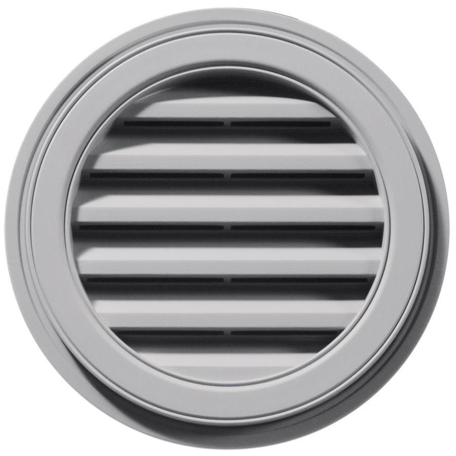 Builders Edge 6-in x 5-in Gray Round Vinyl Gable Vent