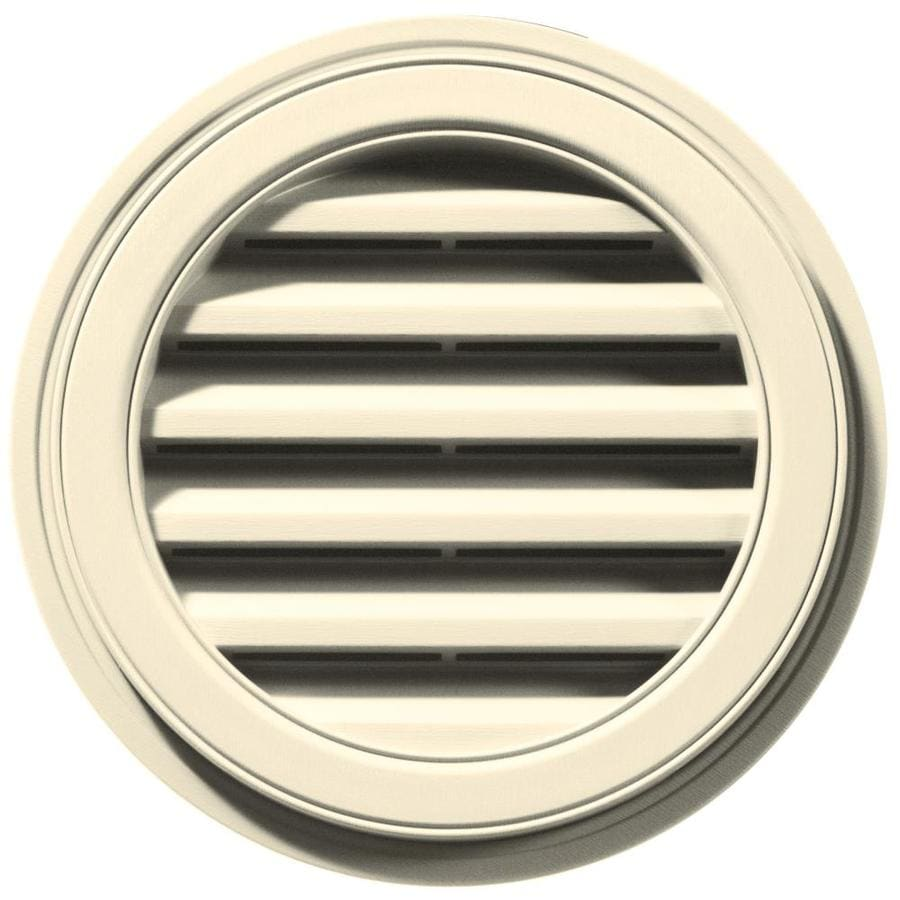 Builders Edge 18-in x 18-in Heritage Cream Round Vinyl Gable Vent