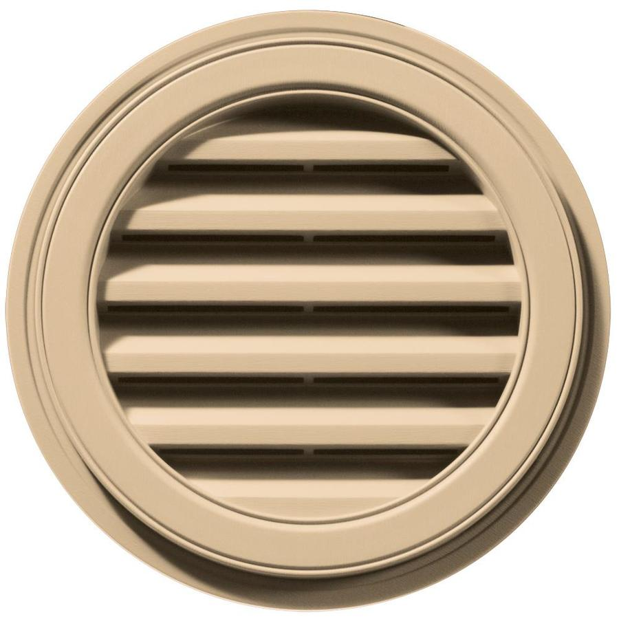 Builders Edge 18-in x 18-in Sandstone Maple Round Vinyl Gable Vent