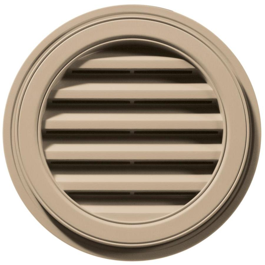 Builders Edge 6-in x 5-in Tan Round Vinyl Gable Vent
