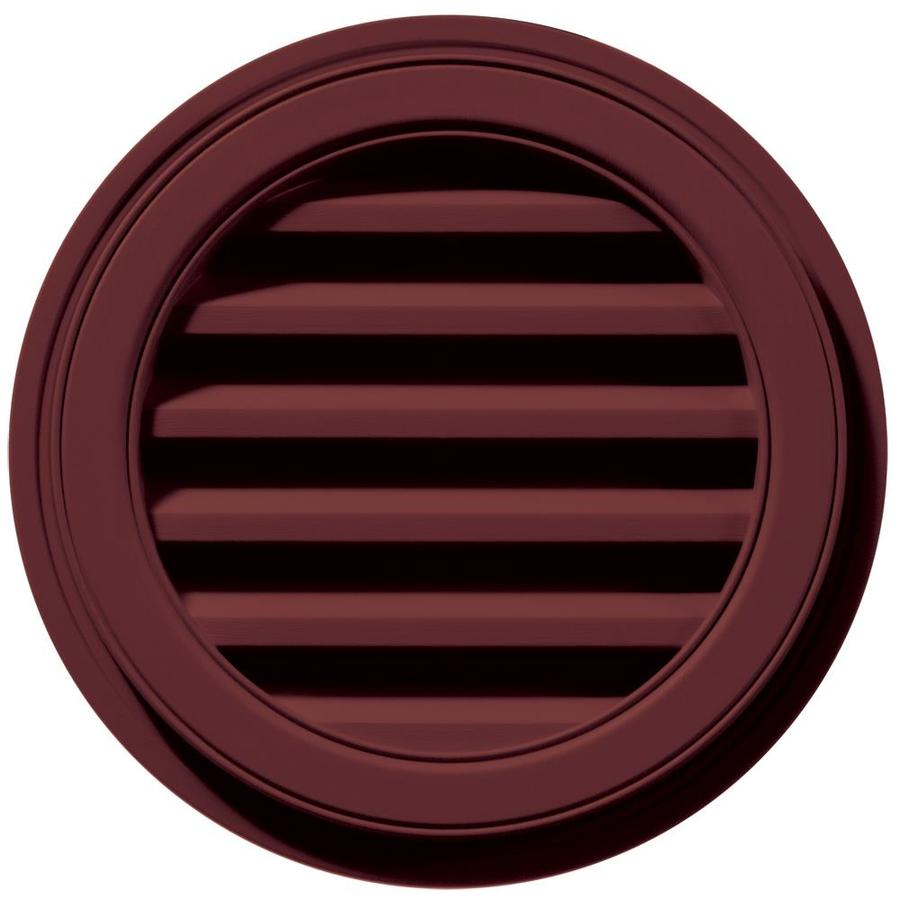 Builders Edge 6-in x 5-in Wineberry Round Vinyl Gable Vent