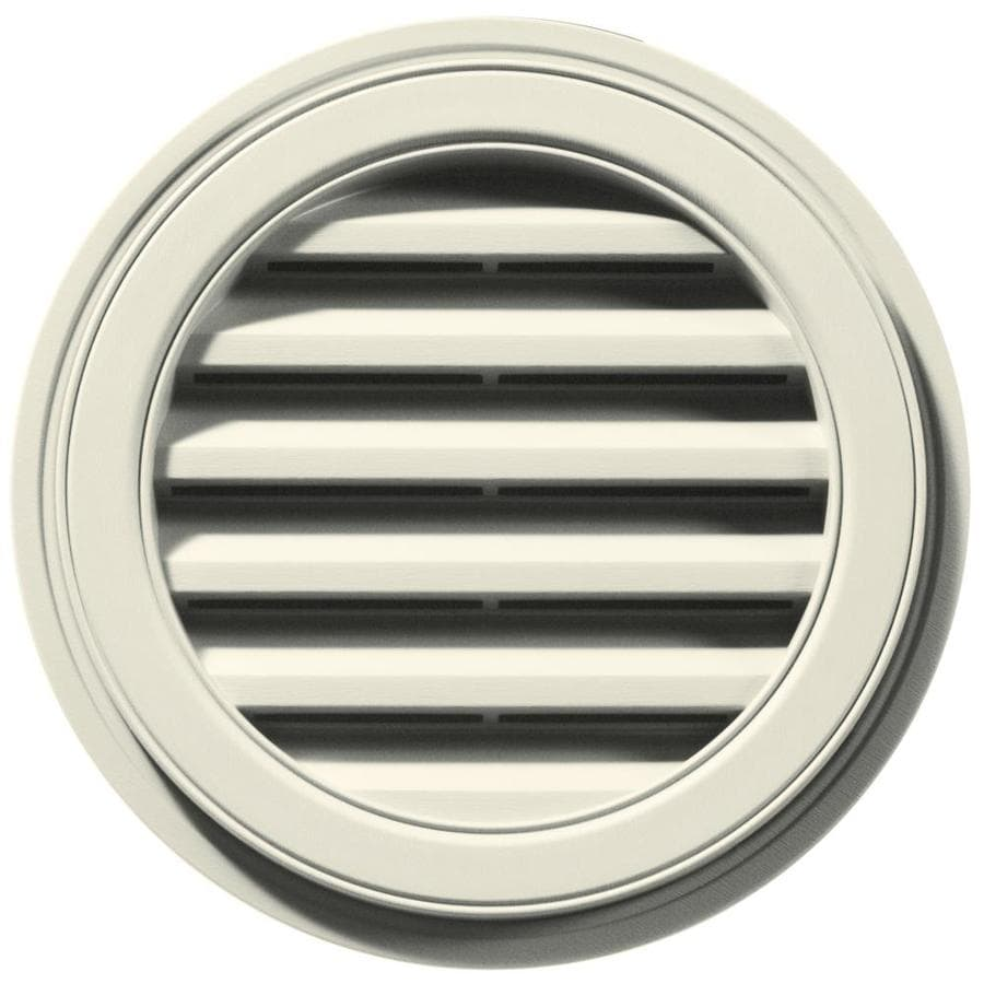 Builders Edge 6-in x 5-in Linen Round Vinyl Gable Vent