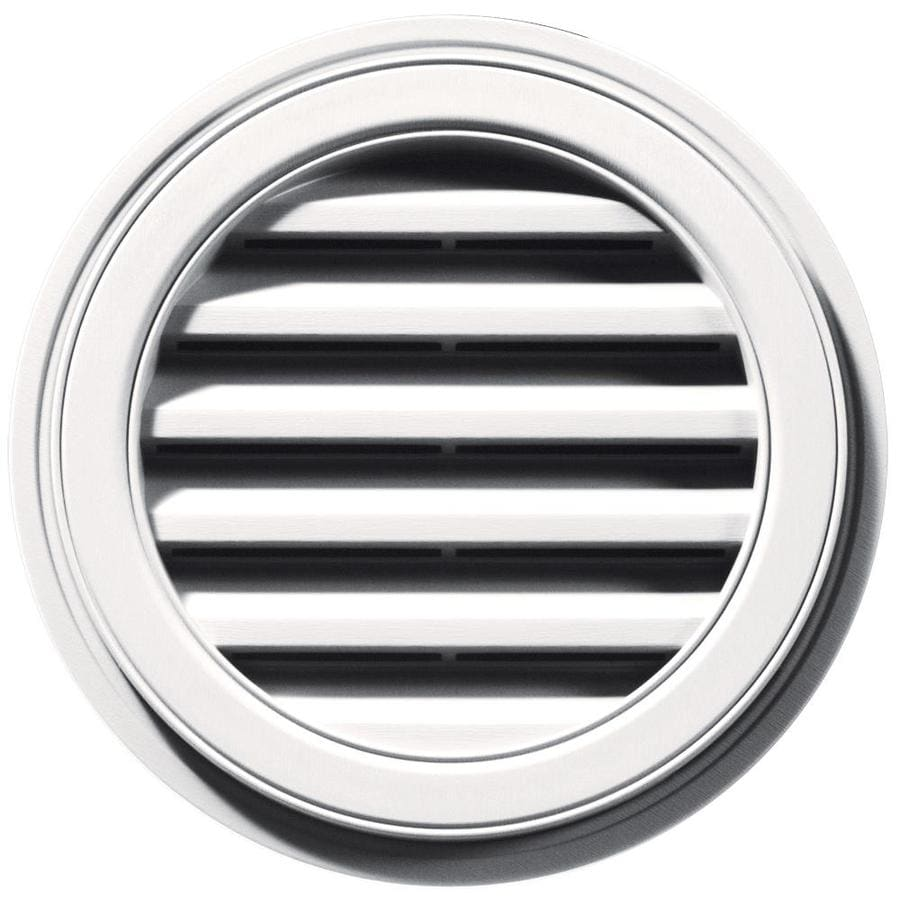 Builders Edge 6-in x 5-in Bright White Round Vinyl Gable Vent