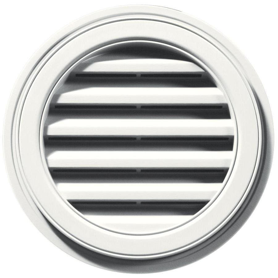 Builders Edge 6-in x 5-in White Round Vinyl Gable Vent