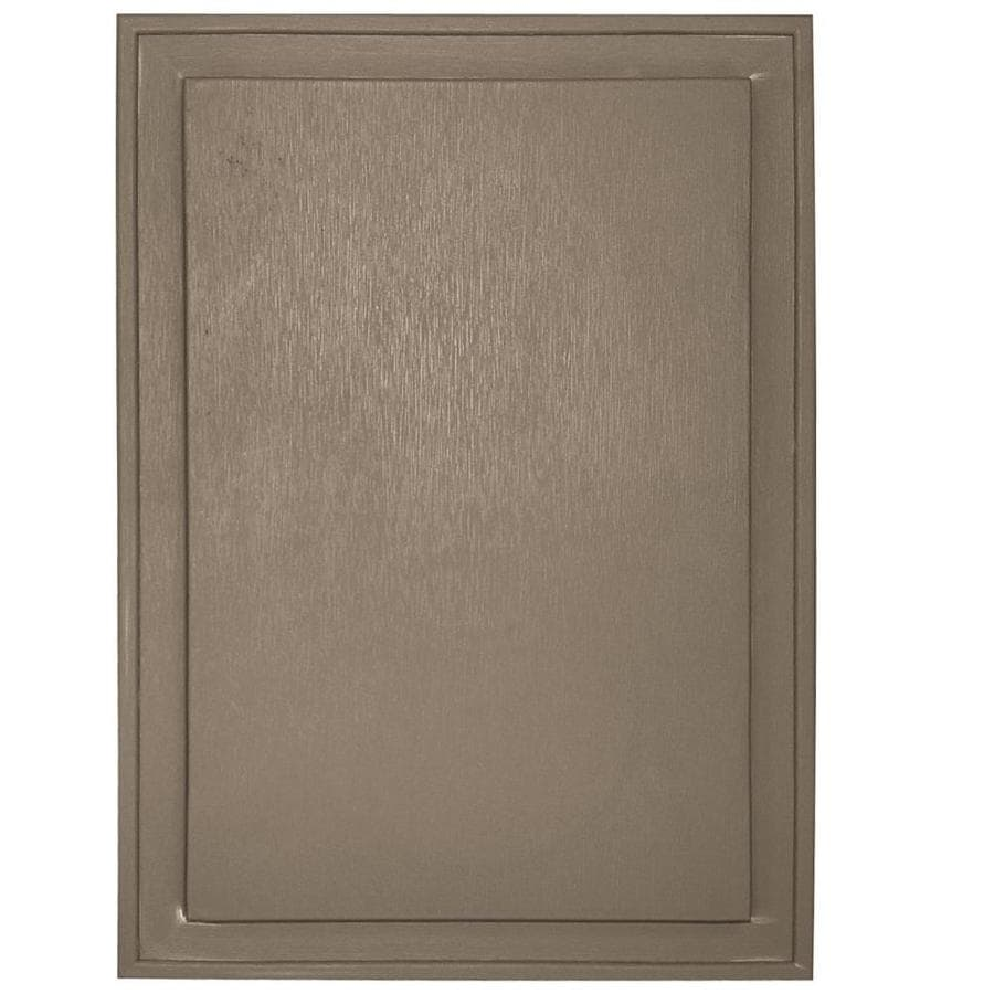 Builders Edge 10-in x 14-in Clay Vinyl Universal Mounting Block