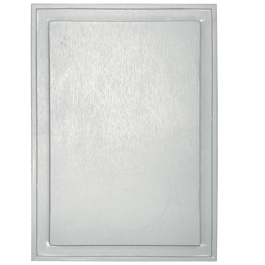 Builders Edge 10-in x 14-in White Vinyl Universal Mounting Block