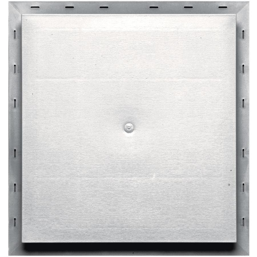 Builders Edge 15.5-in x 16.5-in Bright White Vinyl Universal Mounting Block