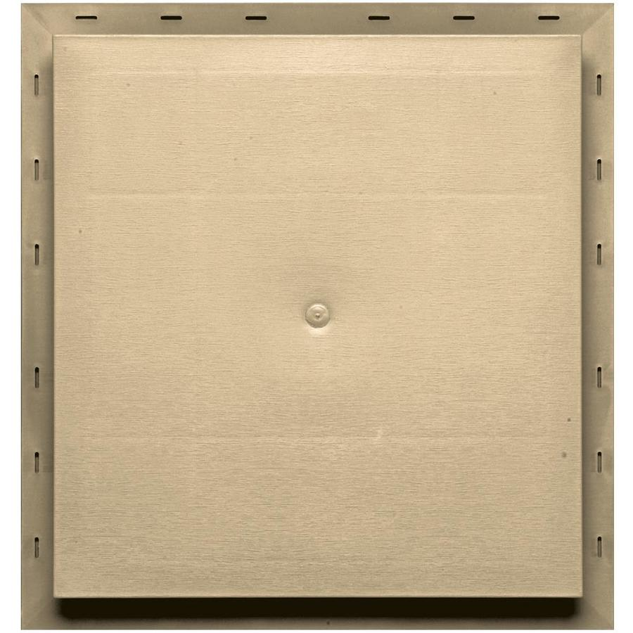 Builders Edge 15.5-in x 16.5-in Dark Almond Vinyl Universal Mounting Block