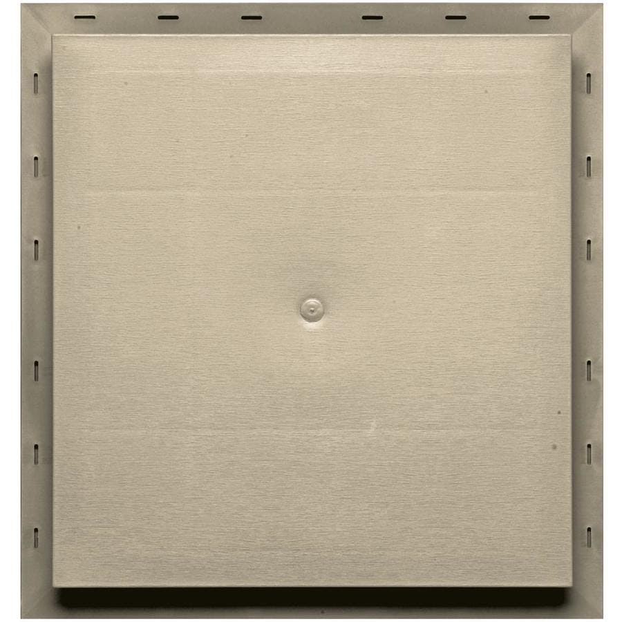 Builders Edge 15.5-in x 16.5-in Sandalwood Vinyl Universal Mounting Block