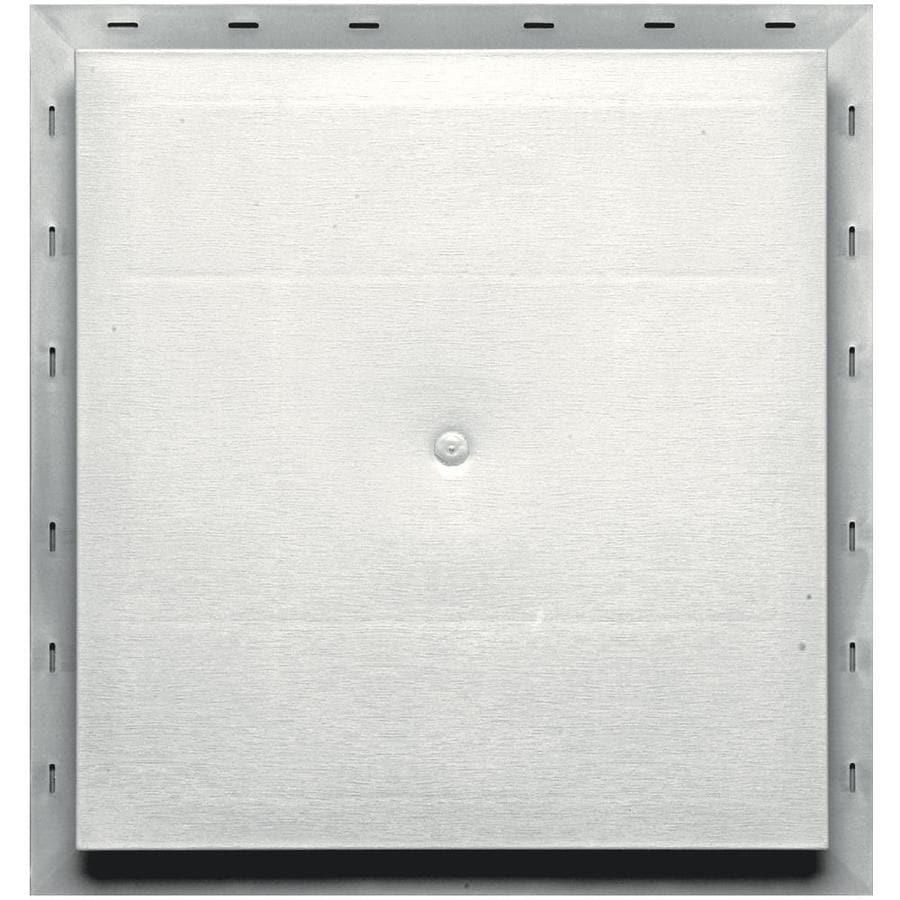Builders Edge 15.5-in x 16.5-in White Vinyl Universal Mounting Block