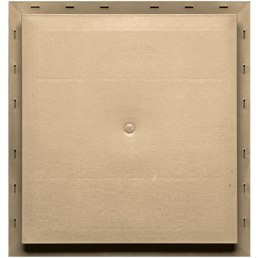 Builders Edge 15.5-in x 16.5-in Sandstone Maple Vinyl Universal Mounting Block