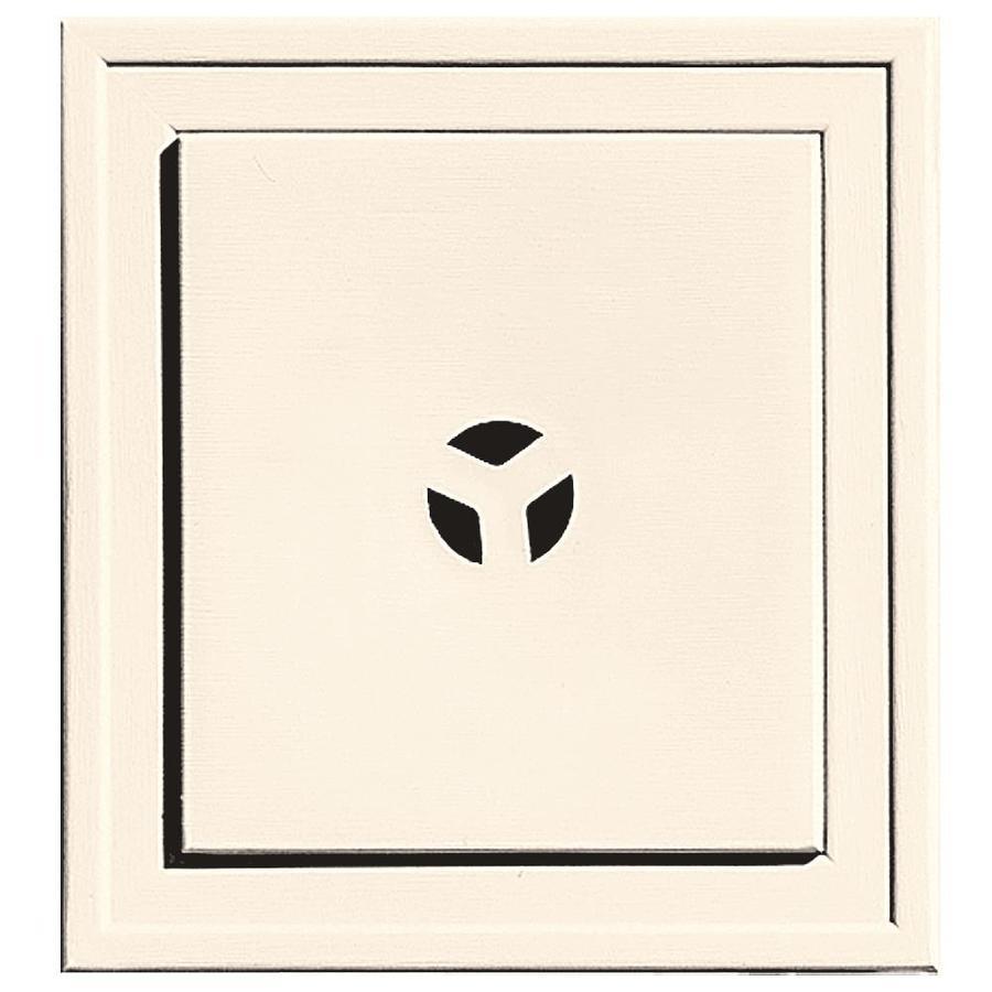 Builders Edge 7.3125-in x 7.3125-in Sandstone Beige Vinyl Universal Mounting Block