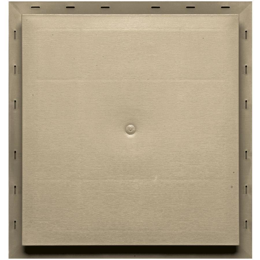 Builders Edge 15.5-in x 16.5-in Light Almond Vinyl Universal Mounting Block