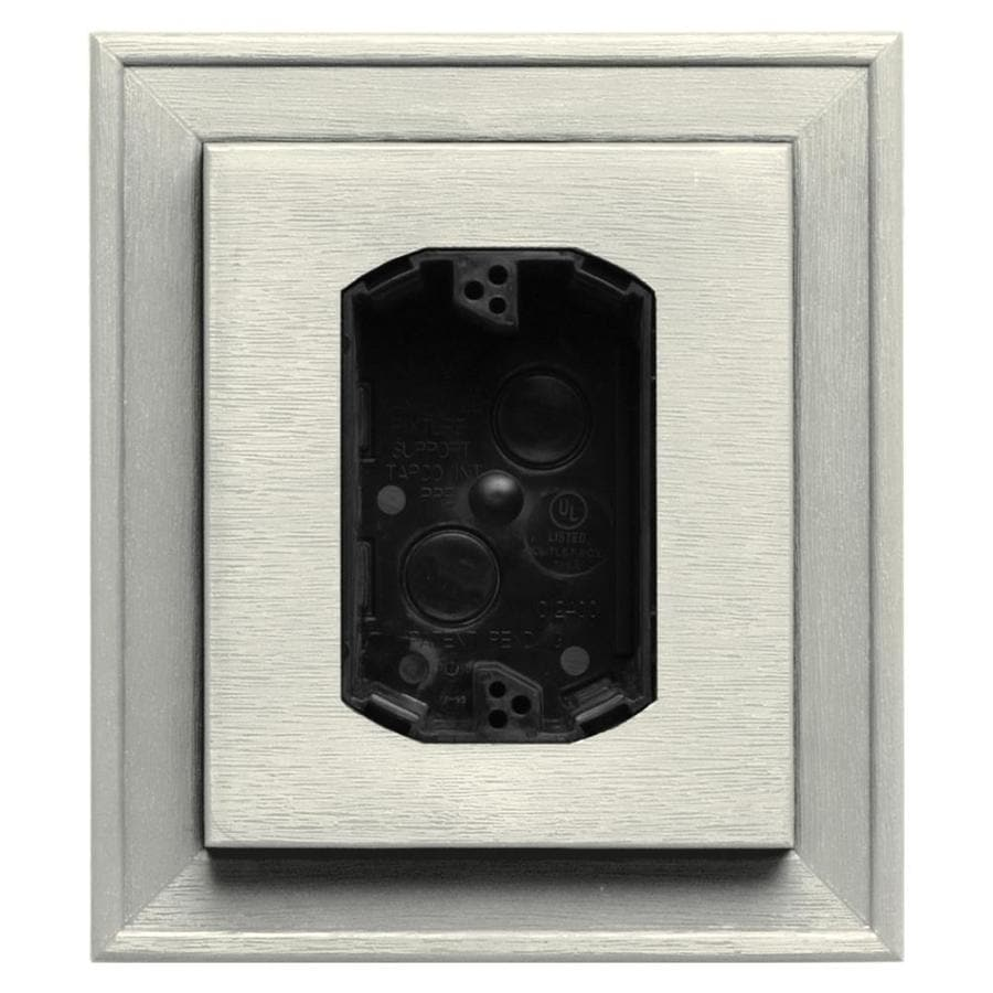 Builders Edge 7-in x 8-in Parchment Vinyl Electrical Mounting Block