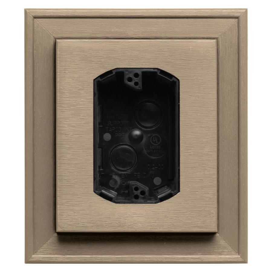 Builders Edge 7-in x 8-in Tan Vinyl Electrical Mounting Block