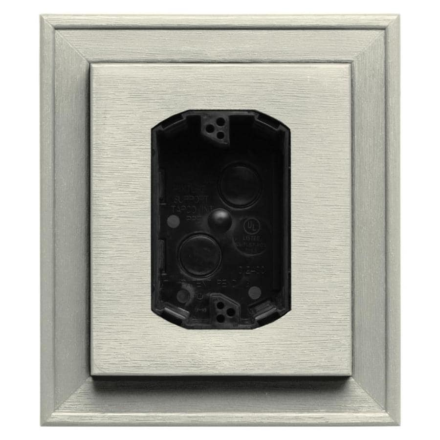 Builders Edge 7-in x 8-in Linen Vinyl Electrical Mounting Block
