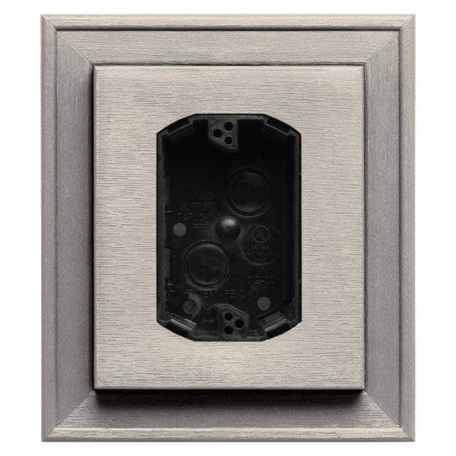 Builders Edge 7-in x 8-in Almond Vinyl Electrical Mounting Block