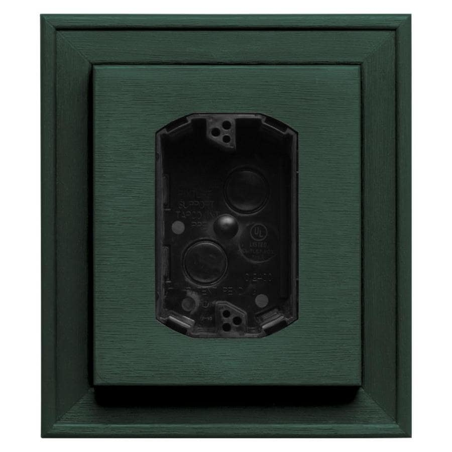 Builders Edge 7-in x 8-in Forest Green Vinyl Electrical Mounting Block