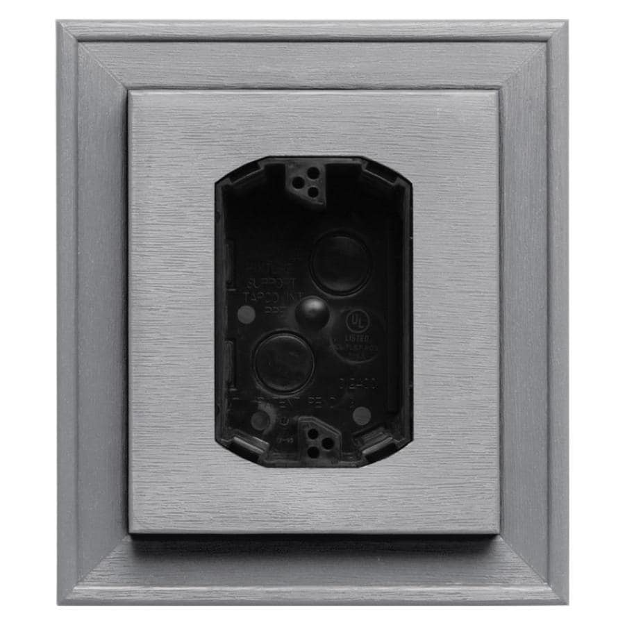 Builders Edge 7-in x 8-in Gray Vinyl Electrical Mounting Block