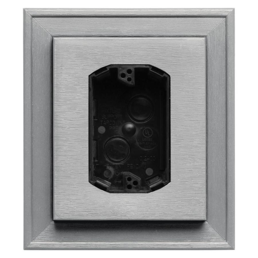Builders Edge 7-in x 8-in Paintable Vinyl Electrical Mounting Block