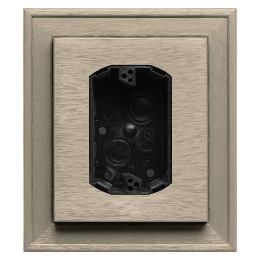 Builders Edge 7-in x 8-in Sandalwood Vinyl Electrical Mounting Block