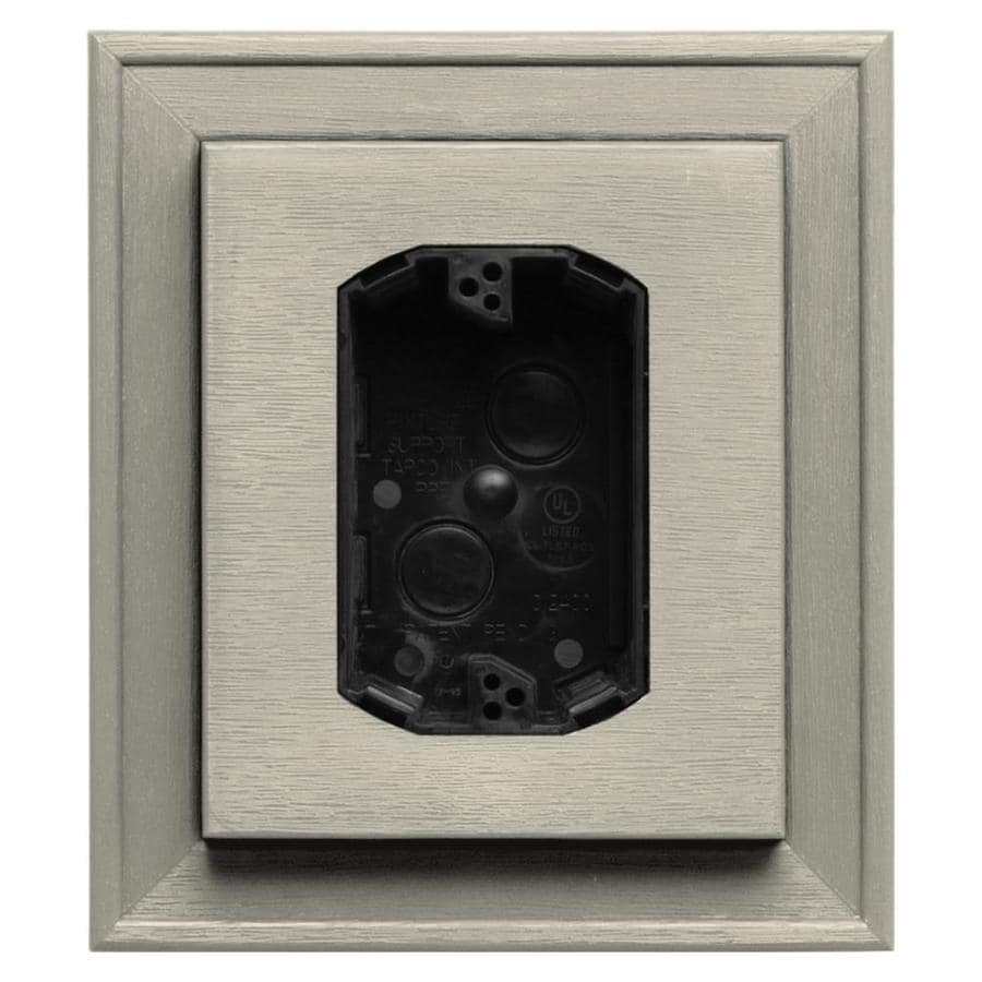 Builders Edge 7-in x 8-in Champagne Vinyl Electrical Mounting Block