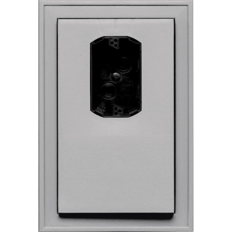 Builders Edge 8.125-in x 12-in Gray Vinyl Electrical Mounting Block