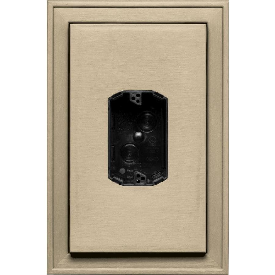 Builders Edge 8.125-in x 12-in Light Almond Vinyl Electrical Mounting Block