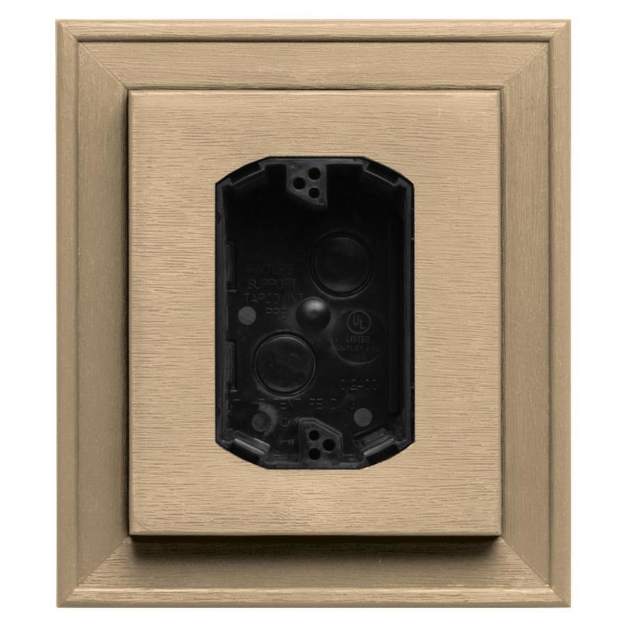 Builders Edge 7-in x 8-in Sandstone Maple Vinyl Electrical Mounting Block