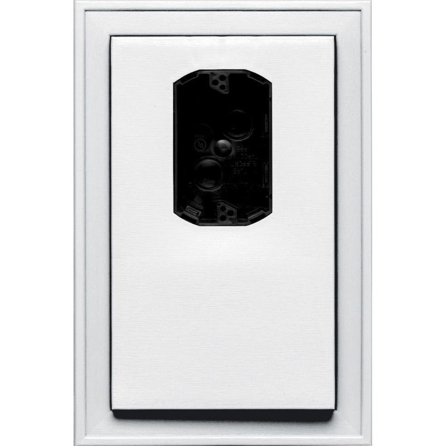 Builders Edge 8.125-in x 12-in White Vinyl Electrical Mounting Block